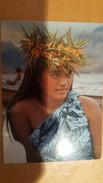 A TENDER POLYNESIAN FACE Carte Postale Neuve Années 70 Très Bon état Dos Partagé - Polynésie Française
