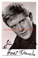 Horst Frank - Autographes