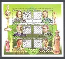 Niger 1999 Chess Players Kleinbogen (3) MNH__(THB-5719) - Niger (1960-...)