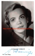 Annemarie Duringer - Autographes