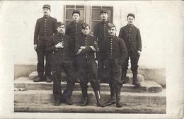 MILITAIRES   DU 38 ?   CARTE PHOTO  MAILLON ST ETIENNE - Guerre, Militaire