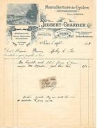1909 - SENS (89) - MANUFACTURE De CYCLES - AUTOMOBILES, Motocyclettes - Maison JEUBERT-CHARTIER - - Historical Documents