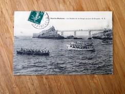 CPA 64 BIARRITZ : Le Rocher De La Vierge Un Jour De Régates, En 1910 - Biarritz