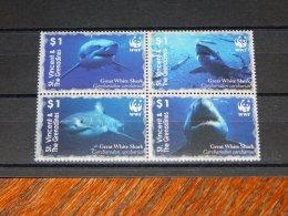 St.Vincent 2006 White Shark Block Of Four MNH__(TH-13415) - St.Vincent (1979-...)