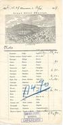 1897 - VARSOVIE (POLOGNE) - GRAND HOTEL D'EUROPE - Facture Trilingue - Documents Historiques