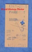 Ticket Ancien De Train - Militaire - Paris EST à FORBACH Par Chalons , Pagny , Saint Avold - 1947 ? - Gare Chemin De Fer - Europa