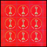 RUSSIA 2017 Sheet MNH ** VF SOCCER CONFEDERATIONS CUP FOOTBALL SPORT 2202 - 1992-.... Federation