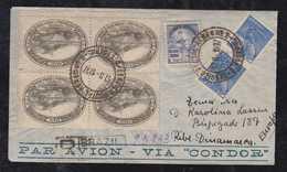 Brazil Brasil 1937 CONDOR Registered Airmail Cover RIO To RIBE Denmark - Brazil