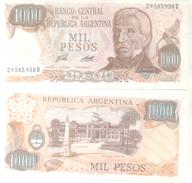 BANCO CENTRAL DE LA REPUBLICA ARGENTINA - MIL PESOS  BILLETE TBE NUEVO SINUSO NOTE - Argentina