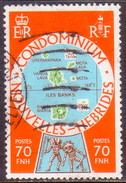NEW HEBRIDES(French Inscr.) 1978 SG F265 70fr Used - French Legend