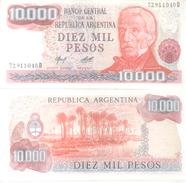 BANCO CENTRAL DE LA REPUBLICA ARGENTINA - DIEZ MIL PESOS  BILLETE TBE NUEVO SINUSO NOTE - Argentina
