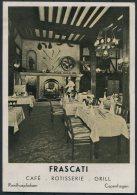 1935 Norway 7 Ore X 3 Posthorn Frascati Cafe Restuarant Copenhagen Advertising Postcard. Oslo - Berlin - Norway