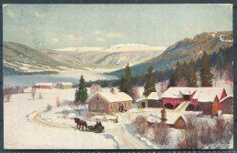 1923 Norway Nils Hansteen Mittet & Co Postcard, 25 Ore Carmine Posthorn Holmestrand - Bridgeport, Conn. USA - Norway