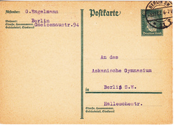 Germany ; 1927 ; Berlin; Ludwig Van Beethoven ; Musice ; Postcard Used - Germany