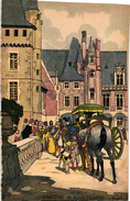 1 Menu  FENCING ESCRIME FECHTEN Pub  Champagne Charles Heidsieck Reims Duel Château De Maintenon - Escrime