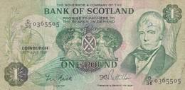 Scotland 1 Pound 1981 VG P-359 P-111e (free Shipping Via Regular Air Mail (buyer Risk) - Scozia