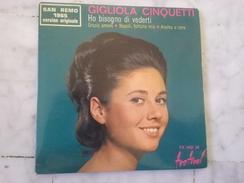 GIGLIOLA CINQUIETI HO BISOGNO DI VEDERTI EP DE 1965 - 45 T - Maxi-Single