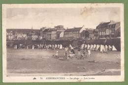 CPA Peu Courante -  CALVADOS - ARROMANCHES - LA PLAGE - LES TENTES - Petite Animation - CAP / 74 - Arromanches