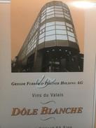3677 - Suisse Valais Dôle Blanche Pour Gregor Furrer & Partner Holding - Sonstige