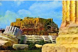 Atene - Il Tempio Di Ciove Olimpico Dell'acropoli - 22 - Formato Grande Viaggiata – E1 - Grecia