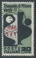 1951 TRIESTE A USATO TRIENNALE DI MILANO 20 LIRE - L2 - 7. Triest