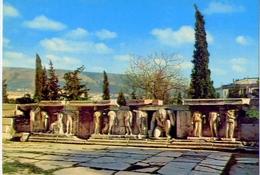 Athens - Bas Reliefs At The Bacchus Theatre - 985-8 - Formato Grande Non Viaggiata – E1 - Grecia