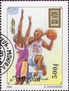USA Atlanta Olympiade 1996 Mongolei 2642 Out Block 257 O 3€ Basketball Hojitas Bloc Sport Olympic Sheet Bf Mongolia - Mongolie