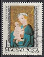 Ungheria 1984 Sc. 2886 Natale Christmas Quadro Dipinto Madonna Col Bambino Trensceny Magyar Hungary - Quadri