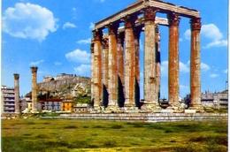 Athens - View Of Olympian And Acropolis - 37-9 - Formato Grande Non Viaggiata – E1 - Grecia