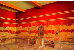 Cnosos - El Trono De Minos - 354 - Formato Grande Non Viaggiata – E1 - Grecia