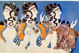 Museo Di Heraclion - Le Dame Blu - Fresco De Cnosos - 385 - Formato Grande Non Viaggiata – E1 - Grecia