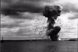 WW2 - Photo-carte - Bataille De Normandie - Déminage De La Rade De Cherbourg Le 17 Août 1944 - 1939-45