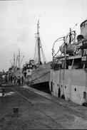 WW2 - Photo-carte - Bataille De Normandie - Liberty Ships Amarrés Au Quai à Cherbourg - 1939-45