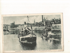 CPA, Italie, N° 3075, Mantova , Porto Nuova  Genova - Vapore Po Della Navigazione Fluviale ,  Ed. 1917 - Mantova