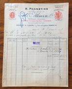 FATTURA PUBBLICITARIA  PARIS  1919 H.PANNETIER  E.ATKINSON PARFUMEURS  SAVONNIERS - Francia