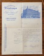 FATTURA PUBBLICITARIA  PARIS  1897 GRANDI MAGAZZINI PRINTEMPS  CON VEDUTA  D'EPOCA - Francia