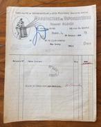 FATTURA PUBBLICITARIA  PARIS  1920. MANUFACTURE DE VAPORISATEURS  ROBERT BLOCH - Francia