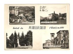 CT-N-02037- SALUTI DA   PETRELLA SALTO   ( RIETI )  M.800  -  4 VEDUTINE - VIAGGIATA 1975 - Rieti