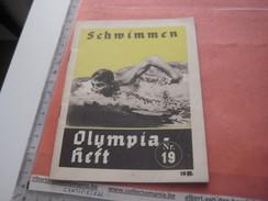 Swimming Olympia BERLIN 1936 - Nr 19, Programa,  Water Sports  Fotos Amt FUR Sportwerbung Olympische - Programs