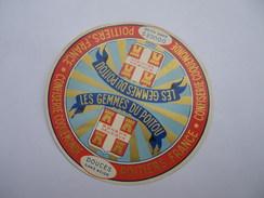 Etiquette Neuve Type Camembert LES GEMMES DU POITOU Confiserie Coquemonde - Autres