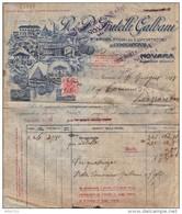 """REGNO - """"FRATELLI GALBANI - PRODUTTORI GORGONZOLA..."""" - 06-06-1918 - FISCALI - """"MARCHE DA BOLLO A TASSA FISSA"""" C. 20 - Revenue Stamps"""