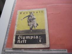 Handball Olympia BERLIN 1936 - Nr 6, Programm,women And Men   Fotos Amt FUR Sportwerbung Olympische - Programs