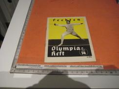 Fence Fechten Schermen Fencing Escrime Olympia BERLIN 1936 - Nr 14, Programm,   Fotos Amt FUR Sportwerbung Olympische - Programs