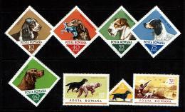 Romania 1965 Sc # 1807 / 1814  MNH **  Dogs - Dogs