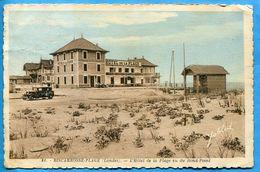 BISCAROSSE PLAGE Hôtel De La Plage Vu Du Rond Point ( Voiture Ancienne ) Ecrite Voyagé - Petits Défauts - Biscarrosse