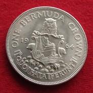 Bermuda 1 Crown 1964 UNC / One / Silver - Bermuda