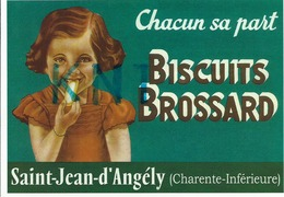 17Saint-jean-d'angély , Biscuit Brossard   C P M - Advertising