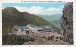 Vermont Green Mountains Mount Mansfield And Hotel Mansfield 1934 Curteich - United States