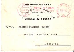 PORTUGAL ADVERTISING CARD LISBOA To ALMADA - DIARIO DE LISBOA - VINHETA CAMPANHA DE SEGURANÇA RODOVIARIA