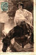Tableau Peintre C - Checa, En Route Pour La Féria (femme Cheval - Peintures & Tableaux